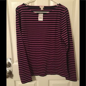🆕 J.Crew Factory Boatneck Long Sleeve Top NWT